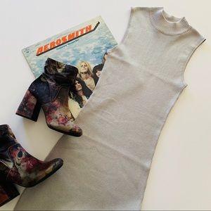 Forever 21 | Light Gray Ribbed Mock Neck Dress